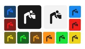 Icona dell'acqua potabile, segno, illustrazione Fotografia Stock
