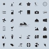 Icona dell'acquascooter Insieme dettagliato delle icone di piacere di estate Segno premio di progettazione grafica di qualità Una illustrazione vettoriale