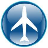 Icona dell'aeroplano Fotografie Stock