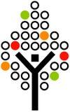 Icona dell'albero illustrazione di stock