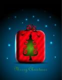 Icona dell'albero di Natale Fotografie Stock