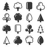 Icona dell'albero messa su fondo bianco Vettore Immagine Stock Libera da Diritti