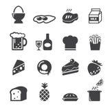 Icona dell'alimento Immagini Stock