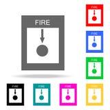 Icona dell'icona dell'allarme antincendio Icone colorate dei pompieri dell'elemento multi per i apps mobili di web e di concetto  royalty illustrazione gratis