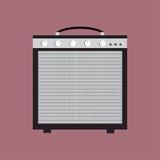 Icona dell'amplificatore della chitarra Illustrazione di vettore del dispositivo Progettazione piana di stile con ombra lunga royalty illustrazione gratis