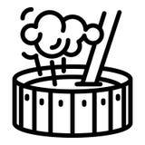 Icona dell'annaffiatoio del fabbro, stile del profilo illustrazione vettoriale