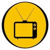 Icona dell'annata TV Fotografie Stock Libere da Diritti