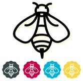 Icona dell'ape del miele Fotografia Stock