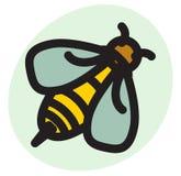 Icona dell'ape del miele Fotografie Stock