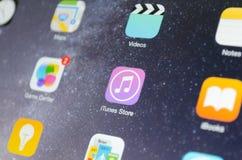 Icona dell'applicazione del deposito di ITunes Fotografie Stock