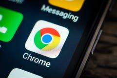 Icona dell'applicazione di Chrome immagine stock libera da diritti
