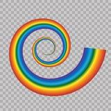 Icona dell'arcobaleno isolata su fondo trasparente Modello di spettro Modello dell'arcobaleno del cielo di vettore Fotografia Stock Libera da Diritti