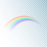 Icona dell'arcobaleno Luce variopinta ed elemento luminoso di progettazione per decorativo Immagine astratta dell'arcobaleno Illu illustrazione vettoriale