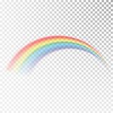 Icona dell'arcobaleno Luce variopinta ed elemento luminoso di progettazione per decorativo Immagine astratta dell'arcobaleno Illu royalty illustrazione gratis