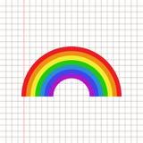Icona dell'arcobaleno piana Fotografia Stock