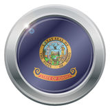 Icona dell'argento della bandiera dell'Idaho illustrazione di stock