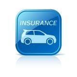 Icona dell'assicurazione auto sul bottone blu di web royalty illustrazione gratis