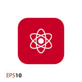 Icona dell'atomo per il web ed il cellulare Fotografia Stock