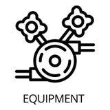 Icona dell'attrezzatura del saldatore, stile del profilo illustrazione vettoriale