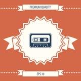 Icona dell'audio cassetta Immagine Stock