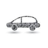 Icona dell'auto nel meccanismo Fotografia Stock