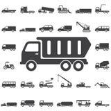 Icona dell'autocarro con cassone ribaltabile illustrazione vettoriale