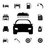Icona dell'autolavaggio Insieme delle icone di riparazione dell'automobile Segni, raccolta di eco del profilo, icone semplici per royalty illustrazione gratis
