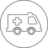 Icona dell'automobile dell'ambulanza dell'ambulanza Immagine Stock