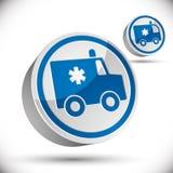 Icona dell'automobile dell'ambulanza Fotografia Stock