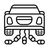 Icona dell'automobile di nozze illustrazione di stock