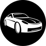 Icona dell'automobile di vettore fotografia stock libera da diritti