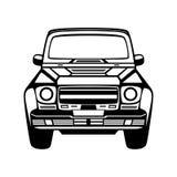 Icona dell'automobile. Isolato su fondo bianco. Fotografia Stock Libera da Diritti