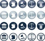 Icona dell'avvocato Immagine Stock