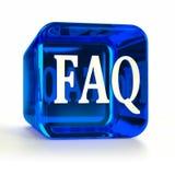 Icona dell'azzurro del FAQ Fotografia Stock