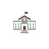 Icona dell'edificio scolastico Immagine Stock