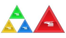 Icona dell'elicottero, segno, illustrazione Immagini Stock