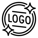 Icona dell'emblema di logo, stile del profilo royalty illustrazione gratis