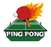 icona dell'emblema di sport di ping-pong Immagini Stock Libere da Diritti