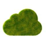 Icona dell'erba di nuvola Fotografia Stock Libera da Diritti