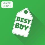 Icona dell'etichetta di caduta di Best Buy Picto di acquisto di Best Buy di concetto di affari Fotografie Stock Libere da Diritti