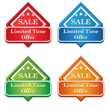 Icona dell'etichetta di offerta di tempo limitato Fotografia Stock