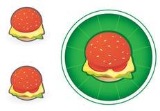 Icona dell'hamburger Fotografia Stock