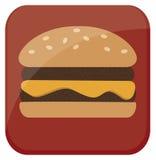 Icona dell'hamburger Fotografia Stock Libera da Diritti