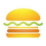 Icona dell'hamburger degli alimenti a rapida preparazione Immagini Stock Libere da Diritti