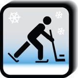 Icona dell'hockey Fotografia Stock Libera da Diritti
