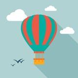 Icona dell'icona della mongolfiera con ombra lunga Immagini Stock Libere da Diritti