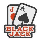 Icona dell'illustrazione del black jack Fotografia Stock Libera da Diritti