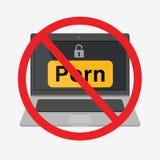 Icona dell'illustrazione del computer portatile Fotografia Stock Libera da Diritti