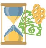Icona dell'illustrazione di vettore di colore isolata soldi royalty illustrazione gratis