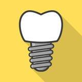 Icona dell'impianto dentario Fotografia Stock